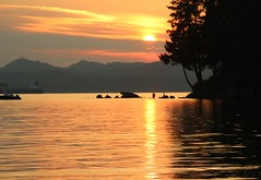 "Gabriola Island sunset (joybidge) Tags: water sunset ""gabriolaisland"" trishcanada naturepatternscanada"