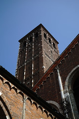 Bell Tower, Basilica di Sant'Ambrogio (dewelch) Tags: academic architecture church college family history italia milan milano screenwritingresearchnetwork srnconference travel university