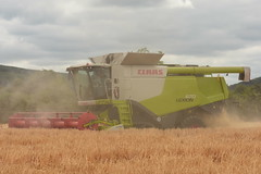 Claas Lexion 670 Terra Trac Combine Harvester cutting Winter Barley (Shane Casey CK25) Tags: claas lexion 670 terra trac combine harvester cutting winter barley green killavullen grain harvest grain2018 grain18 harvest2018 harvest18 corn2018 corn crop tillage crops cereal cereals golden straw dust chaff county cork ireland irish farm farmer farming agri agriculture contractor field ground soil earth work working horse power horsepower hp pull pulling cut knife blade blades machine machinery collect collecting mähdrescher cosechadora moissonneusebatteuse kombajny zbożowe kombajn maaidorser mietitrebbia nikon d7200