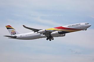Airbus, A340-313, OO-ABD,