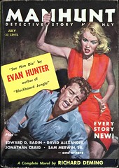 Manhunt Detective Story Monthly Vol. 3, No. 7 (July, 1955). Cover Art by Robert Maguire. Digest size. (lhboudreau) Tags: paperback paperbacks vintagepaperback vintagepaperbacks paperbackcover paperbackcovers vintagepaperbackcover vintagepaperbackcovers paperbackart coverart vintagepaperbackart paperbackbook paperbackbooks manhunt manhuntdetectivestory manhuntdetectivestorymonthly periodical volume3number7 1955 july1955 mystery detective mysterynovel mysterystory hardboileddetective hardboiledmystery novel story pulp pulps magazine magazines pulpmagazine pulpmagazines pulpart pulpcover pulpcovers vintagepulp mysterythriller digest digestsize femmefatale knife crime paperbackcrime paperbackcrimes retrocover retrocovers retro mysterystories hardboileddetectivestories stories hardboiledfiction maguire robertmaguire illustration illustrations drawing drawings magazinecover magazineart magazinecoverart pulpcoverart seehimdie evanhunter richarddeming kill killing