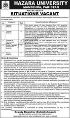 Jobs in Hazara University Mansehra 2018 (pkjobvacancydotcom) Tags: jobs hazara university mansehra 2018