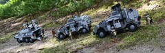 Caracal and Lynx's on patrol (TierMR) Tags: war guns army military armored recon vehicle infantry support