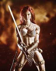 Red Sonja 2 (Mr Action Figure) Tags: 16 16scale phicen tbleague redsonja redhair sheena armor metalbikini bikini sword medallion dagger warrior comic seamlessfigure seamless female femalefigure doll toys hottoys battle gloves leather armband sparks flame conan barbarian verycooltoys