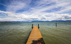 Just a Jetty (CraDorPhoto) Tags: canon6d landscape mountains alps lake water lakegeneva lacleman sky clouds outdoors jetty morges switzerland