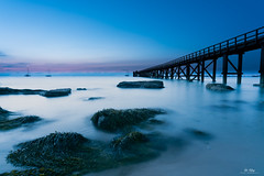 Heure bleue sur la Plage des Dames (Di_Chap) Tags: noirmoutier estacade aube sunset plagedesdames noirmoutierenlîle paysdelaloire france fr