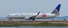 """United Airlines, N66837, 2014 Boeing B737-924 ER WL, MSN 60122, LN 5168, FN 0837, """"Special Olympics"""" (Gene Delaney) Tags: unitedairlines n66837 2014boeingb737924erwl msn60122 ln5168 fn0837 specialolympics"""
