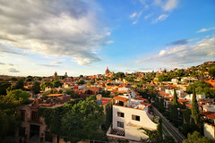 San Miguel De Allende from the Rosewood Hotel (DGNacho.com) Tags: sanmigueldeallende guanajuato mexico sky clouds blue town city birdseyeview