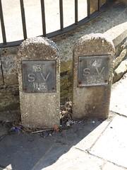 Sluice Valve Signs, Cross Street, Blaenavon, Pontypool 29 August 2018 (Cold War Warrior) Tags: sv sluice valve marker blaenavon pontypool