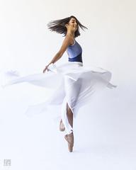 Shené's Dance 1 (lc99photography) Tags: shené shenélazarus dance ballet ballerina motion twist turn toes fabric swirl dancer thedancephotographyworkshop portrait face hair