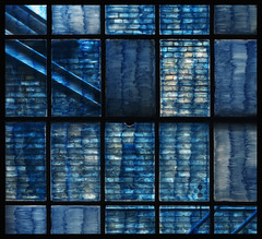 Painted windows (Funchye) Tags: denmark copenhagen fotografiskcenter windows blue wall nikon d750 50mm
