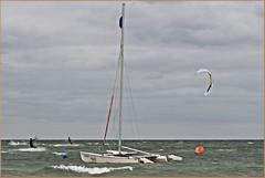 Windiges Wetter & Wilde Wellen (der bischheimer) Tags: ostsee baltic poel kitesurfen canon derbischheimer