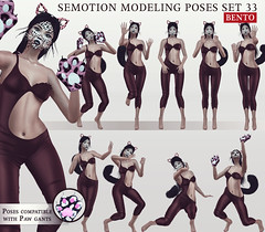 SEmotion Female Bento Modeling poses Set 33 (Marie Sims) Tags: semotion sl secondlife stands slfashion cat kitty kitten kats kawaii kittykat makeup neko pose poses posing photographer photosl photo paws paw set ao animations animation avatar anim animaitons mocap modeling model vanity