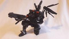 Impact gun deployed (frameworks6) Tags: mecha mech robot military lego