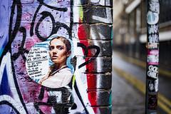 Gee Street Art (Reckless Times) Tags: sticker art streetart backstreet street gee london wet raining nikon d750 project 100x