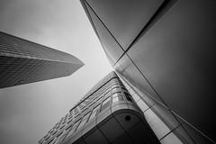 Silver Tower (s.W.s.) Tags: light highrise skyscraper building tower cityscape frankfurt architecture city sky urban skyline buildings germany blackandwhite neutraldensity nikon d3300 lightroom