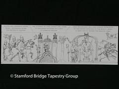 Panel 1 design (Stamford Bridge Tapestry Project) Tags: tapestry stamfordbridge battleofstamfordbridge 1066 design drawing