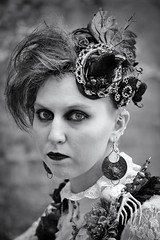 Portrait from Lincoln's Asylum X Steampunk Festival (Gordon.A) Tags: lincolnshire lincoln castle asylum x asylumx theasylum steam punk steampunk weekend convivial lincolnasylum lincolnasylumsteampunk lincolnasylumsteampunkfestival festival festiwal festivaali festivalen festspiele goth gothic alternative culture subculture creative costume lifestyle pretty woman lady face people event eventphotography amateur street photography day daylight outdoor outdoors outside naturallight portrait pose posed town city urban mono monochrome monochromatic monotone blackandwhite bnw bw digital canon eos 750d sigma sigma50100mmf18dc lens