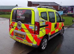 6150 - BBM - SNZ 1782 - 101_2535 (Call the Cops 999) Tags: 999 112 uk gb united kingdom great britain england north west emergency service services fire and rescue open day saturday 8 september 2018 rochdale bbm blood bikes manchester snz 1782 fiat qubo