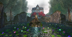 El trono de la Reina Aga (__ Mariah1Moon __) Tags: second life secondlife sl savoir faire look landscaping landscape forest bosque elf elfos reino fantasia fantasy thelittlebranch hextraordinary scarletcreative trono virtual 3d