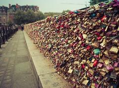 Love Locks in Paris (Stuck in Customs) Tags: france paris stuckincustomscom treyratcliff padlock lock bridge love travel