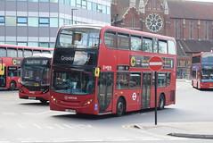 AL T64 @ West Croydon bus station (ianjpoole) Tags: arriva london alexander dennis enviro 400 lj08cxu t64 working route 264 st georges hospital tooting broadway park street croydon