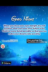 Good night (Touchindia.com) Tags: touchindia greetings wishes greetingwishes touchindiagreetings black blue nyc people day new multicolour colours colors red flower nature white green yellow pink orange quotes life love happy smile goodnight sky sunlight bright outside naturaleza sunshine natur air contrast light moon clouds trees girl city water