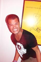 Clapton (Gary Kinsman) Tags: fujifilmxpro1efx20 efx20 flash slowsync slowsyncflash clapton fujix100t fujifilmx100t 2018 london hackney e5 party houseparty pose posed portrait portraiture people person highiso late night longexposure slowshutterspeed 1second anger crazy angry mental teeth intense