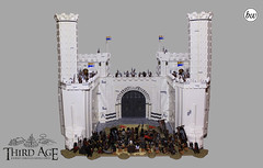 The Great Gate of Minas Tirith (Spartan Bricks) Tags: legolotr jrrtolkien war lordoftherings gandalf hobbit battle minastirith lego lotr gondor thehobbit gate thirdagecollab