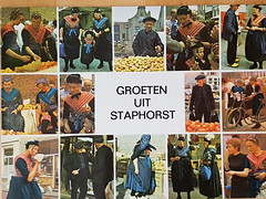 Netherlands Staphorst Costumes (DymphieH) Tags: postcards costumes netherlands offer2018