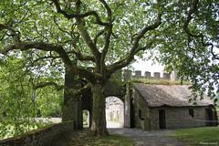 L'entrée du parc du château de Pirou (philippeguillot21) Tags: châteaufort pirou manche cotentin normandie france europe porte défense entrée verdure créneau castle pixelistes canon parc park