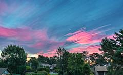 Red Sky Morning Timelapse (nicklucas2) Tags: cloud time timelapse stack landscape