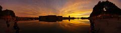 Sunset in Toulouse (David B. - just passed the 7 million views. Thanks) Tags: toulouse hautegaronne midipyrénées france sun sunset sky bridge garonne river landscape city town occitanie riverbank sony a6000 sonya6000 sonyilce6000 ilce6000 1018 panorama
