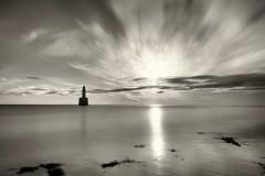 Rattray Head Lighthouse. Sep. 18 #03 (PeskyMesky) Tags: rattrayhead lighthouse aberdeenshire scotland longexposure landscape monochrome blackandwhite sea ocean sunrise sunset water canon canon6d leefilter littlestopper