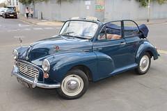 1964 Morris Minor (doojohn701) Tags: blue morris 1000 minor reflection vintage retro historic 1964 convertible chrome white car margate uk