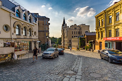 Castles and streets (chemamb) Tags: sony mirrorless sonya5100 kiev ukraine cityscape castle clouds architecture