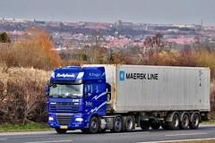 AF95966 (13.04.17-2)_Balancer (Lav Ulv) Tags: 129890 daf dafxf xf105 105460 e5 euro5 2009 afmeldt2013 retiredin2013 abgemeldet2013 blue container htc hørbylundetransportcompany 6x2 maersk xf460 truck truckphoto truckspotter traffic trafik verkehr cabover street road strasse vej commercialvehicles erhvervskøretøjer danmark denmark dänemark danishhauliers danskefirmaer danskevognmænd vehicle køretøj aarhus lkw lastbil lastvogn camion vehicule coe danemark danimarca lorry autocarra danoise vrachtwagen trækker hauler zugmaschine tractorunit tractor artic articulated semi sattelzug auflieger trailer sattelschlepper vogntog oplegger motorway autobahn motorvej vibyj highway hiway autostrada