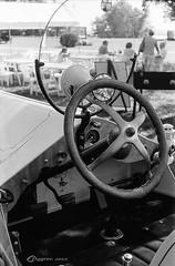 Vintage Car Show #5 (CNygren) Tags: asa100 aristaeduultra100 canoscan9000f d7611 film kodakretinaia lacrossecounty oldcars places westsalem yellowfilter bwfp