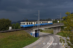MOB: ABDe 8/8 4004 à Châtelard VD (passiontrain.ch) Tags: abde 88 4004 4000 sig saas bbc regio les avants chatelard vd vaud montreux suisse schweiz mob oberland bernois temps nuage orage