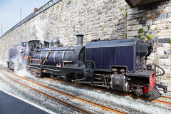 Caernarvon Station (alanrharris53) Tags: welsh highland railway rail steam narrow gauge wales garrett ngg16 no87