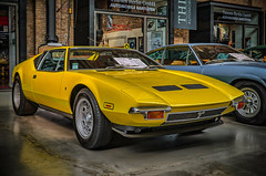 DE TOMASO PANTERA (Peter's HDR hobby pictures) Tags: petershdrstudio hdr classiccar detomaso car oldtimer auto yellow gelb