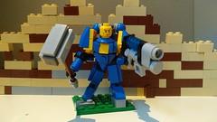 Ultramarine with Hammer and Plasma gun (Dave.St.) Tags: lego warhammer 40k spacemarine