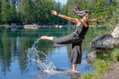 Danse au sommet (1 sur 4) (belval74) Tags: art danse danseur eau france hautesavoie lac lieu personne sallanchespassychedde
