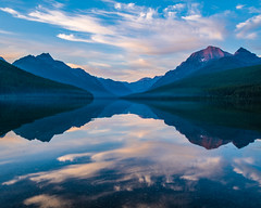 Bowman Lake Reflection 4 (grimeshome) Tags: grimeshomephotography grimeshome davidgrimesphotographer davidgrimesphotography glaciernationalpark glacier bowmanlake montana reflection reflectiononwater sky clouds mountains lake water summer wilderness nature landscape landscapes