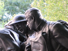 107th Infantry Memorial World War One Soldiers NYC 8202 (Brechtbug) Tags: 107th infantry memorial dedicated soldiers who died during world war i created by sculptor karl morningstar illava central park 5th ave 67th streets represents seven nyc 08232018 new york city september 29 1927 wwi one public art statue sculpture august 2018
