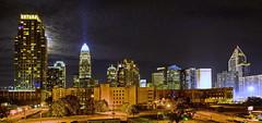 Downtown Charlotte, NC (ArmyJacket) Tags: charlotte nc city skyline night northcarolina urban buildings skyscrapers dark moonlight panorama