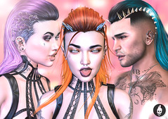 NEW ! #ActionInkubator Hair Izzy (MarilynMonroe Munro) Tags: action actioninkubator meshhair bentorigged new undercut shavedsides metal studs hoops braids