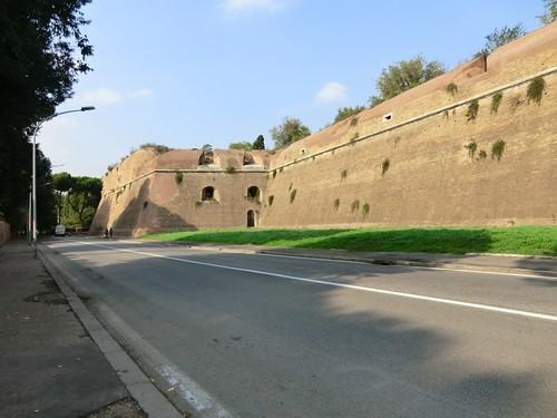 CIMG0398 Roman walls, in Caracalla