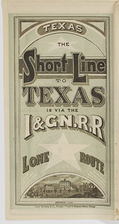 Texas: the short line to Texas is via the I. & GN. R.R.