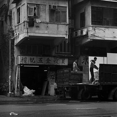 Scrap Collectors (ss9679) Tags: film hp5 ilford analog hong kong china contrast grime people nosky hasselblad 500cm mediumformat square blackandwhite monochrome travel street filmdev:recipe=11606 ilfordhp5400 kodakhc110 film:brand=ilford film:name=ilfordhp5400 film:iso=800 developer:brand=kodak developer:name=kodakhc110
